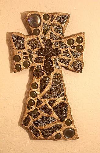 Mosaic Wall Cross Religious Home Dcor Christian Item S