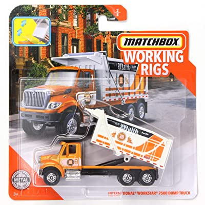 Matchbox Working Rigs International Workstar 7500 Dump Truck, Orange Malik: Toys & Games