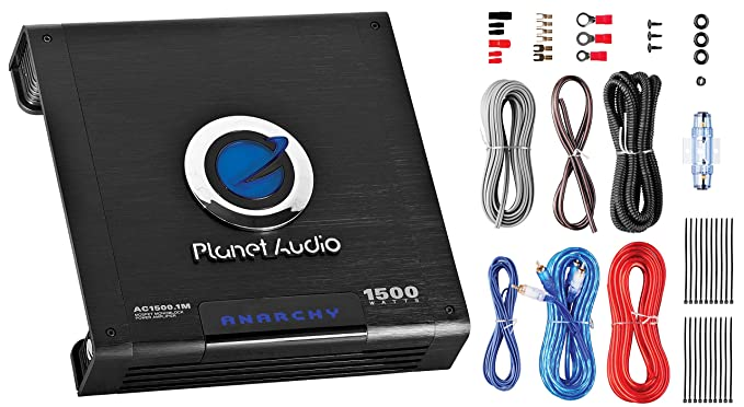 planet audio ac1500mk 1500 watt amplifier installation kit 2 4 ohm stable, class a b, monoblock, mosfet car amplifier with remote subwoofer  planet audio ac2000 2 wiring diagram #15