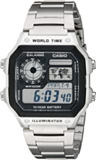 Amazon casio mens ae1200wh 1a world time multifunction watch casio mens digital watch gumiabroncs Choice Image