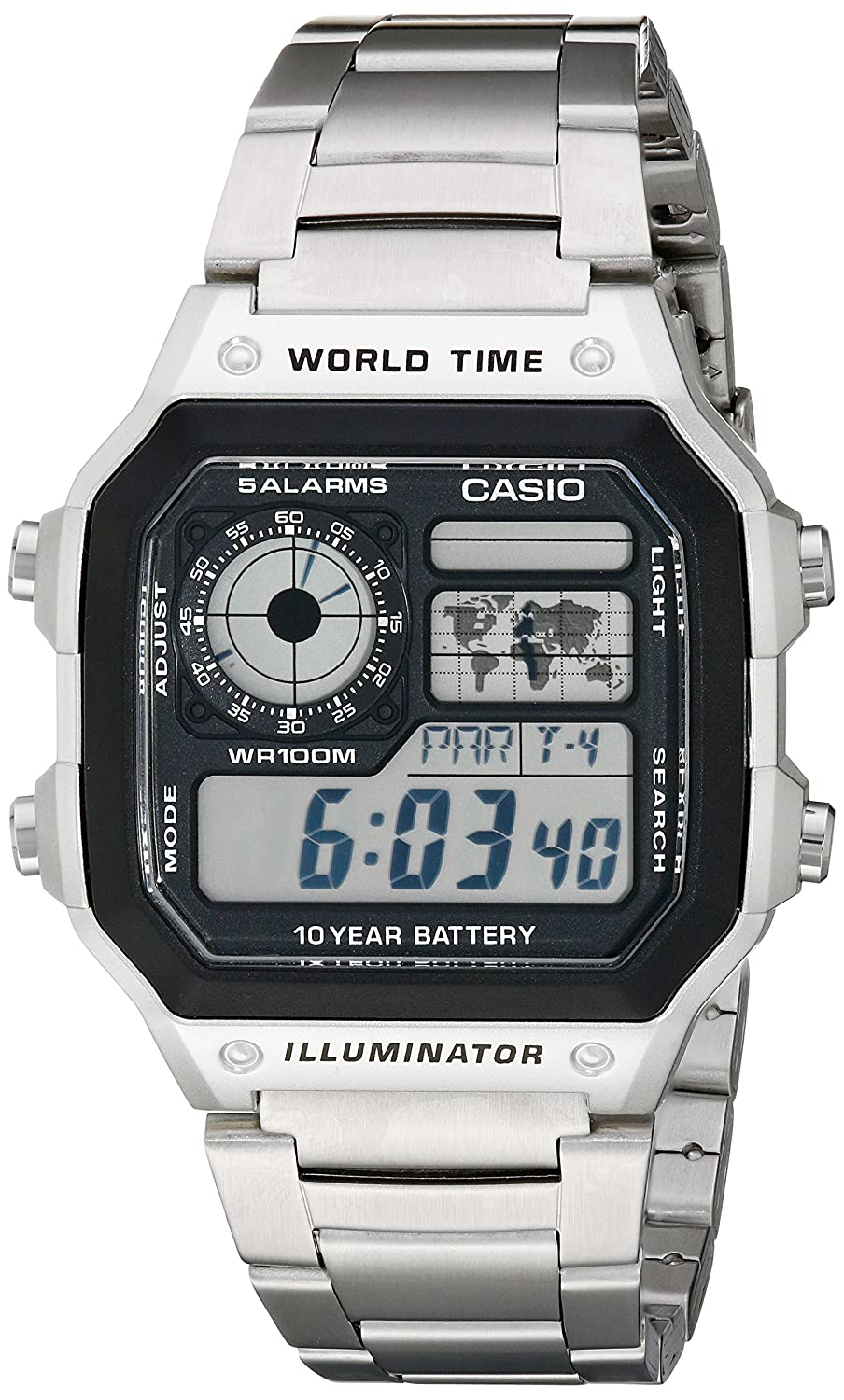 e10a2dfd320 Amazon.com  Casio Men s AE1200WHD-1A Stainless Steel Digital Watch  Casio   Watches