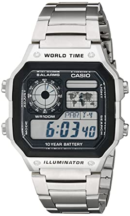 77e3738129d Amazon.com  Casio Men s AE1200WHD-1A Stainless Steel Digital Watch ...