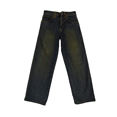 Boy wide leg jeans basic five pockets relaxed straight fit 100 % cotton 8-18