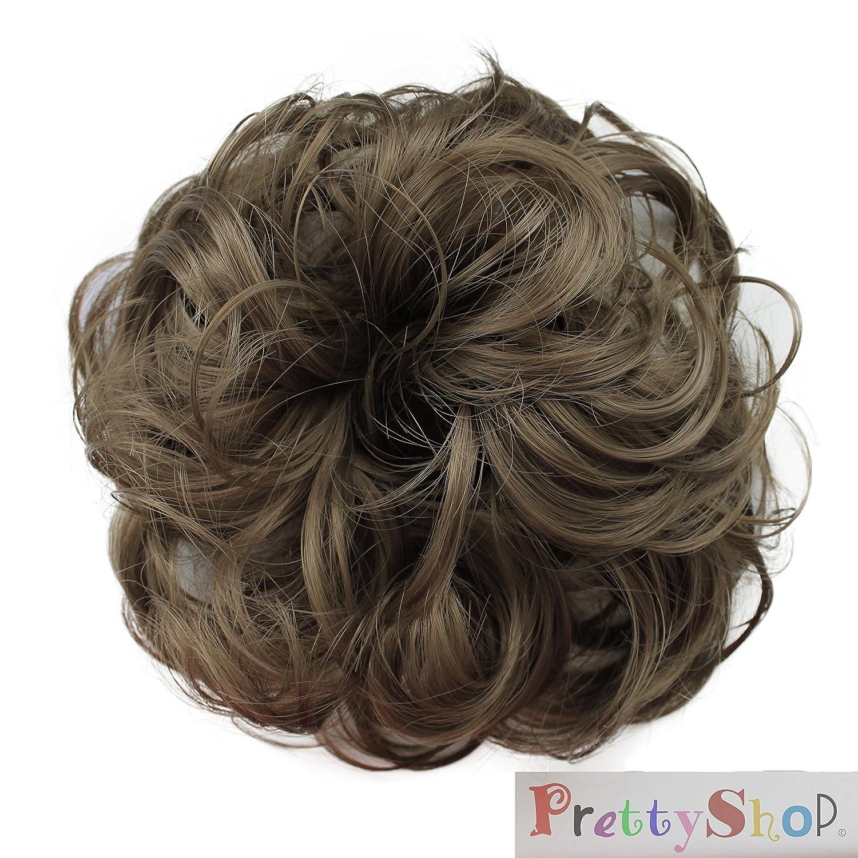 PRETTYSHOP parrucchino Hairpiece cravatta capelli updos crocchia ricci o disordinato, diversi colori G3A
