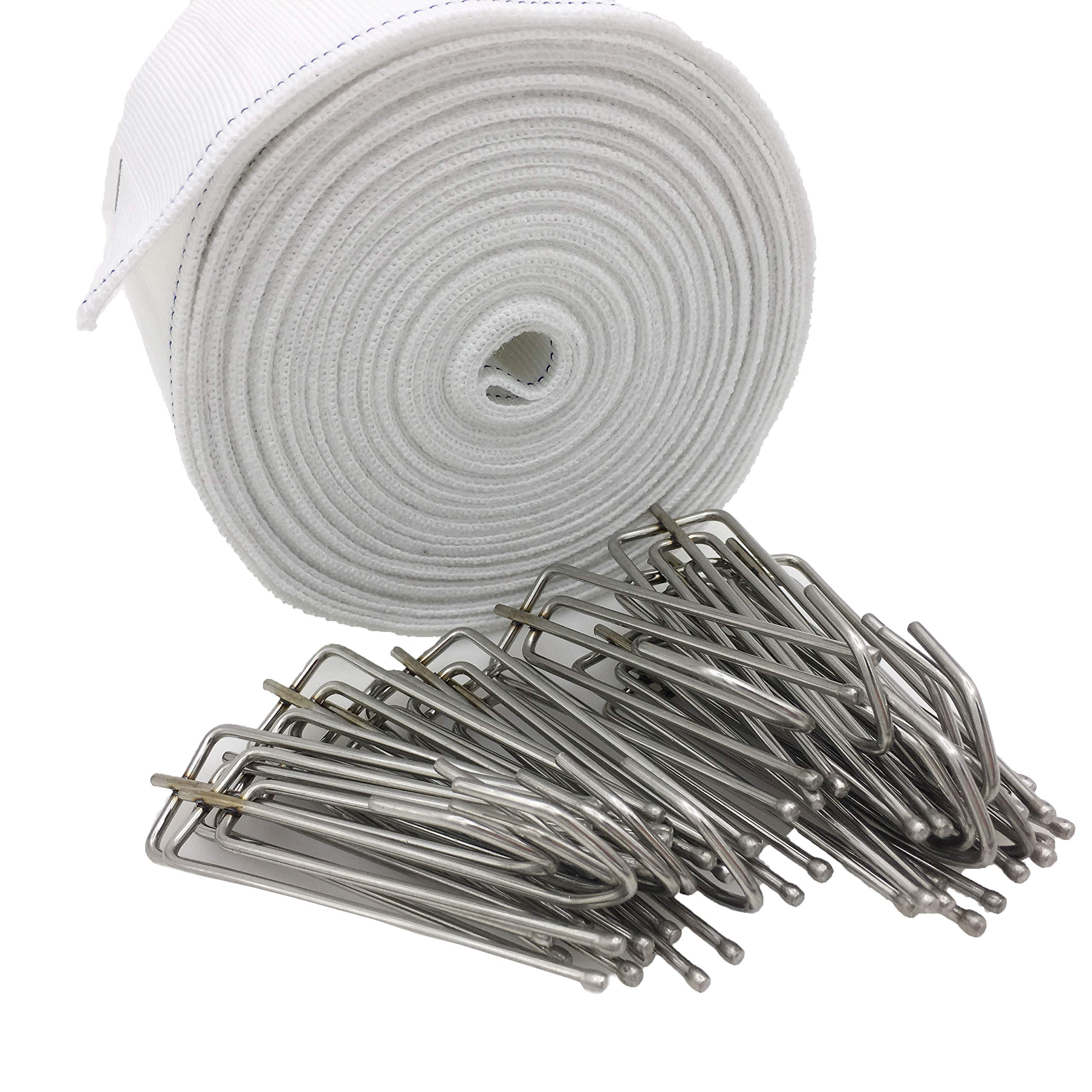 Yoead 10 Meters Curtain Tapes with 15pcs Stainless Steel Curtain Pleater Hooks for DIY Curtain (10 Meters) by Yoead