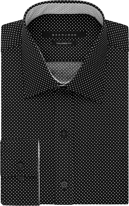 Sean John Mens Tailor Fit Polka Dot