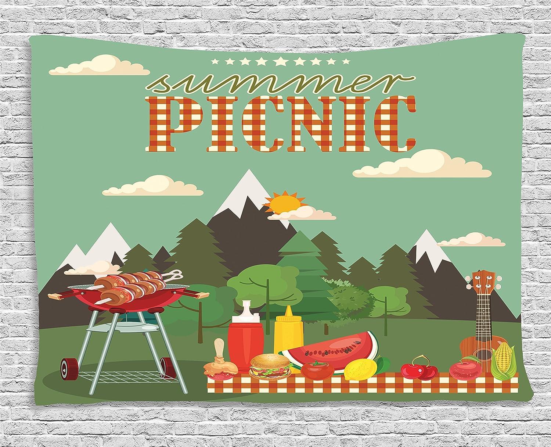 Amazon.com: lunarable barbacoa fiesta tapiz, Picnic de ...