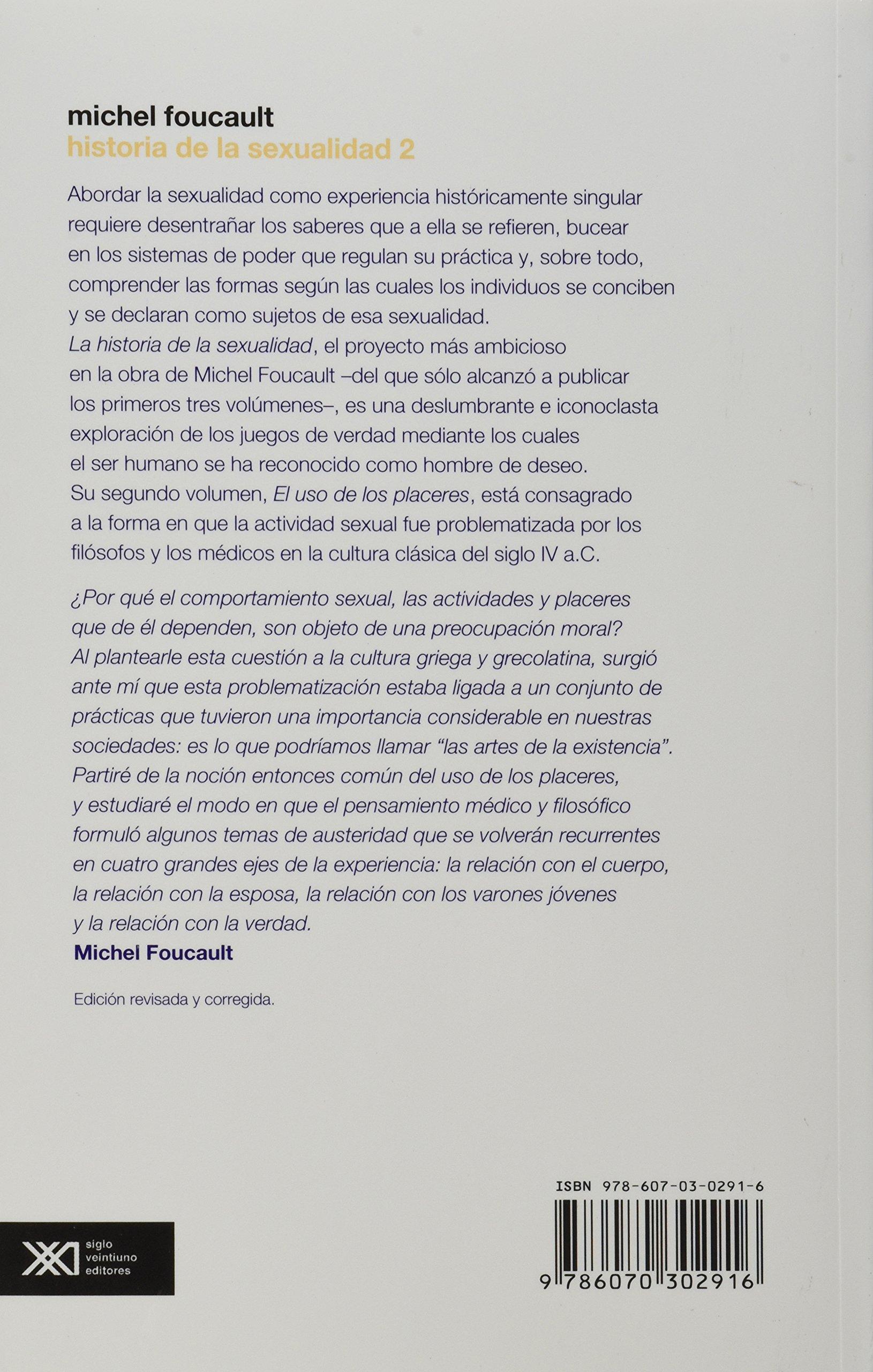 El uso de los placeres (edicion revisada y corregida) (Spanish Edition): Michel Foucault: 9786070302916: Amazon.com: Books