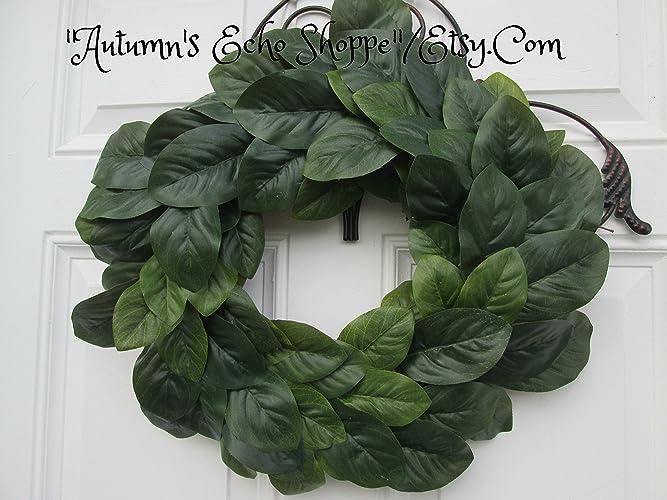 Amazon Com Magnolia Wreath Faux Magnolia Door Decor Handmade