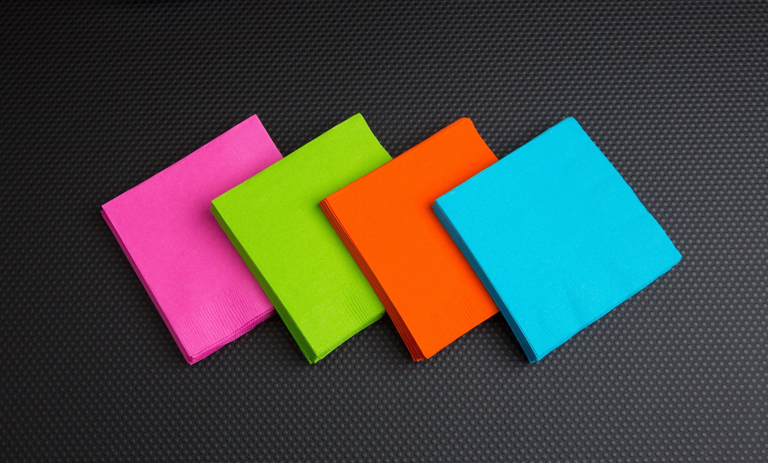 Party Essentials 2-Ply Paper Cocktail Beverage Napkins, Assorted Neon Brights, 48-Count by Party Essentials (Image #2)