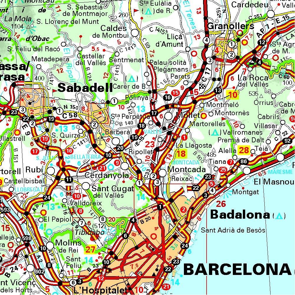 Carte Michelin Espagne Nord.Amazon Fr Carte Espagne Catalogne Aragon Andorre