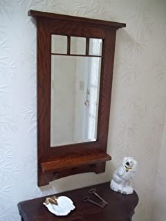 Arts Crafts Craftsman Style Hanging Wall Mirror 1 Bevel Handcrafted