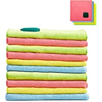 10-Pieces House Again 2 in 1 Microfiber Cleaning Cloths with Scouring Pad