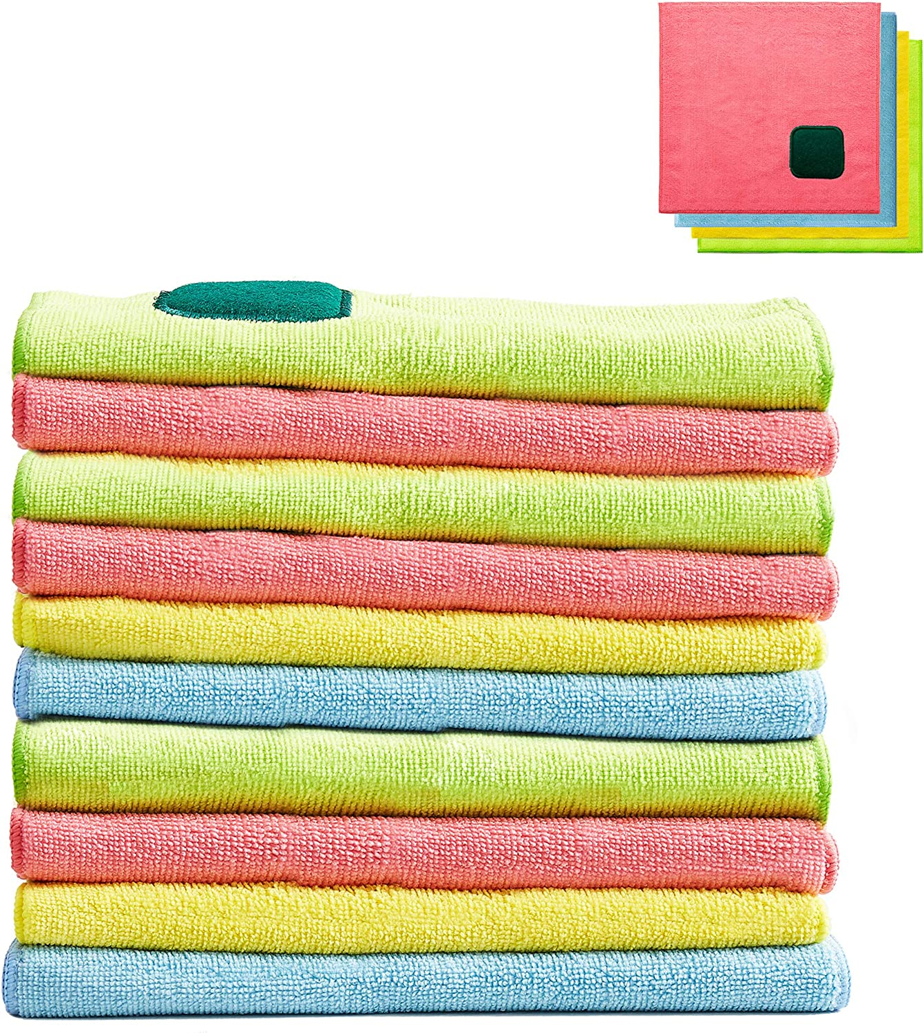 10 Pcs Opening large release sale 2 5 popular in 1 Microfiber Cleaning with Pad Cloths 12x1 Scouring