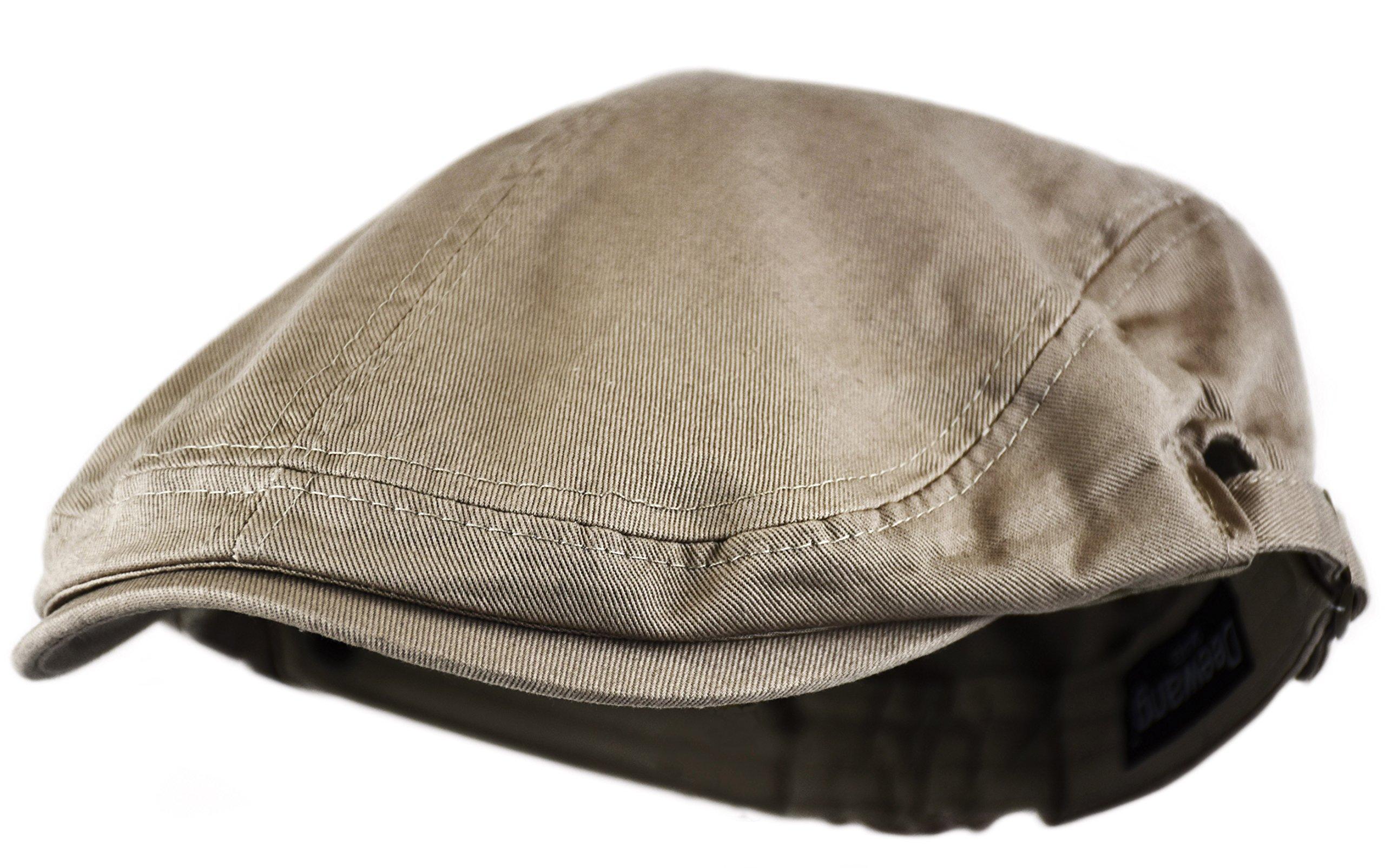 961efb33b40 Deewang Fashion Cotton Cabbie Hat Buckle Golf Ivy Colorful Newsboy Driving  Cap (Khaki) Apparel