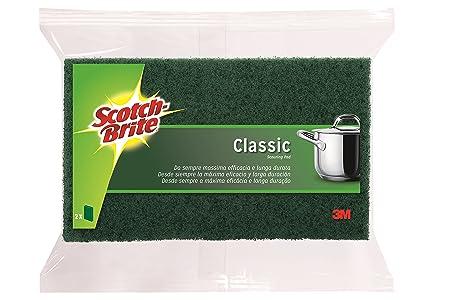Scotch-Brite Estropajo, Verde-Clásico, 2 Unidades