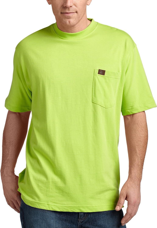 Wrangler Riggs Workwear Big & Tall Pocket - Camiseta para Hombre Verde (Safety Green) L Largo