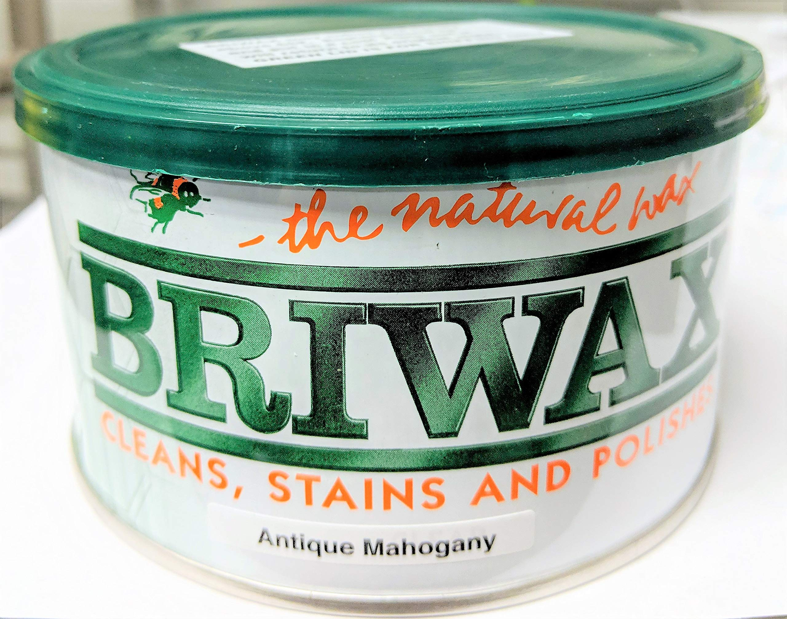 Briwax (Antique Mahogany) Furniture Wax Polish, Cleans, stains, and polishes. by Briwax