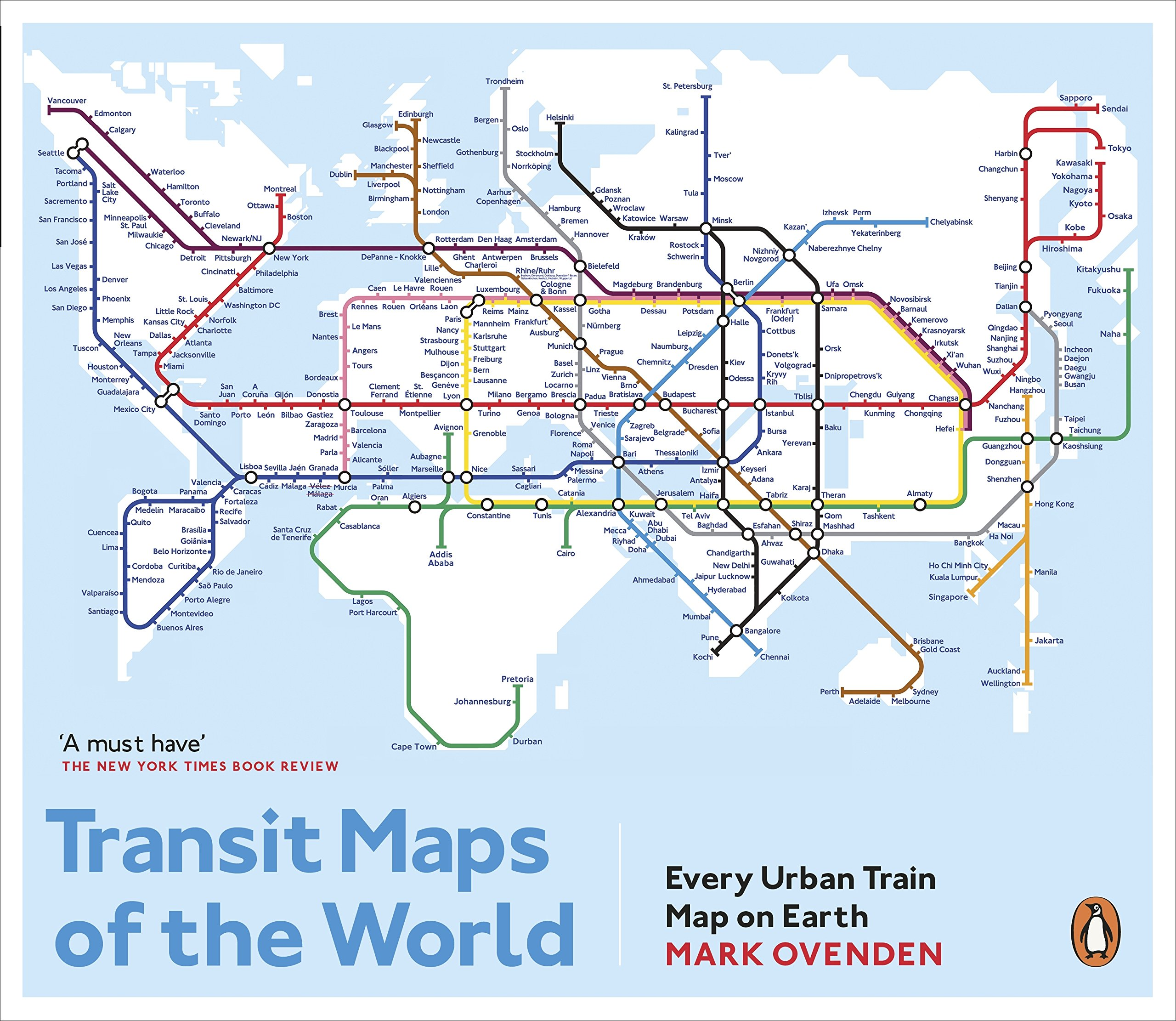 Map Of New York Rail System.Transit Maps Of The World Every Urban Train Map On Earth Amazon Co