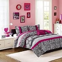 Mi Zone Mizone Reagan Comforter Set-Pink-Twin/TXL, Twin/Twin X-Large