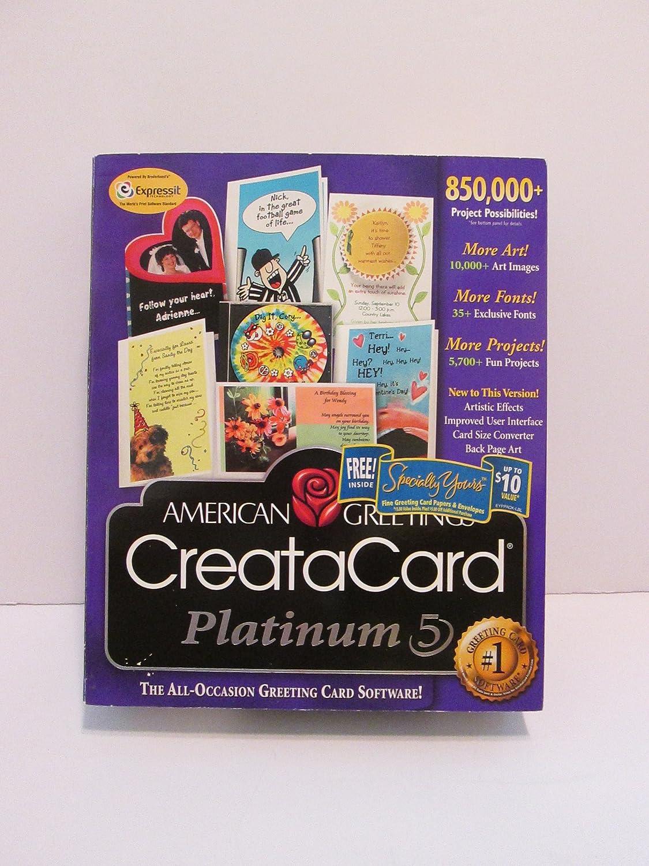 Amazon American Greetings Creatacard 5 Platinum Software