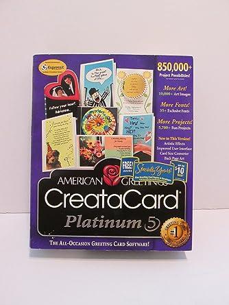 Amazon american greetings creatacard 5 platinum software american greetings creatacard 5 platinum m4hsunfo