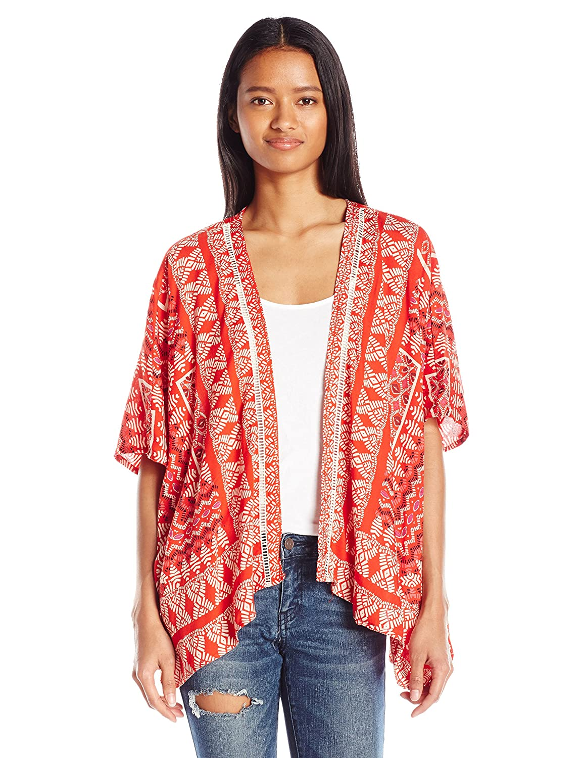 Amazon.com: Angie Women's Printed Kimono Cardigan: Clothing