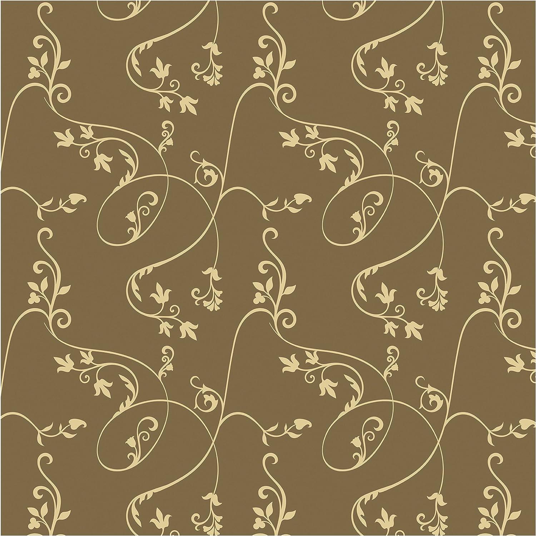 Non Woven Wallpaper No Ta104 Ivy Sage Mustard Square 75 6 X 75 6