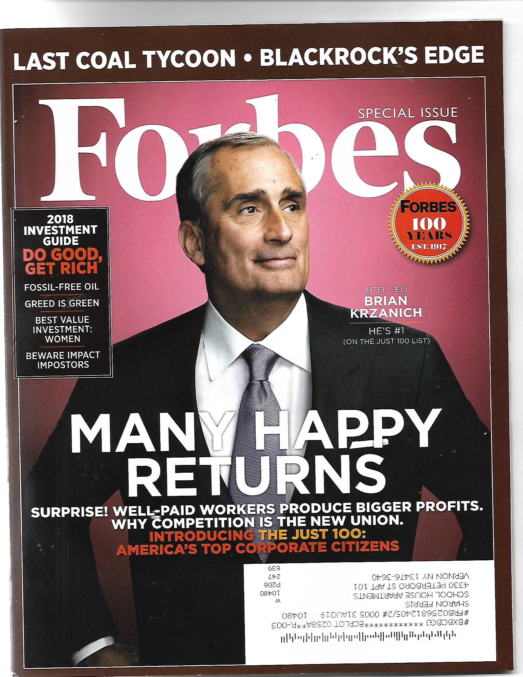 Download Forbes December 26, 2017 Intel CEO Brian Krzanich Many Happy Returns PDF