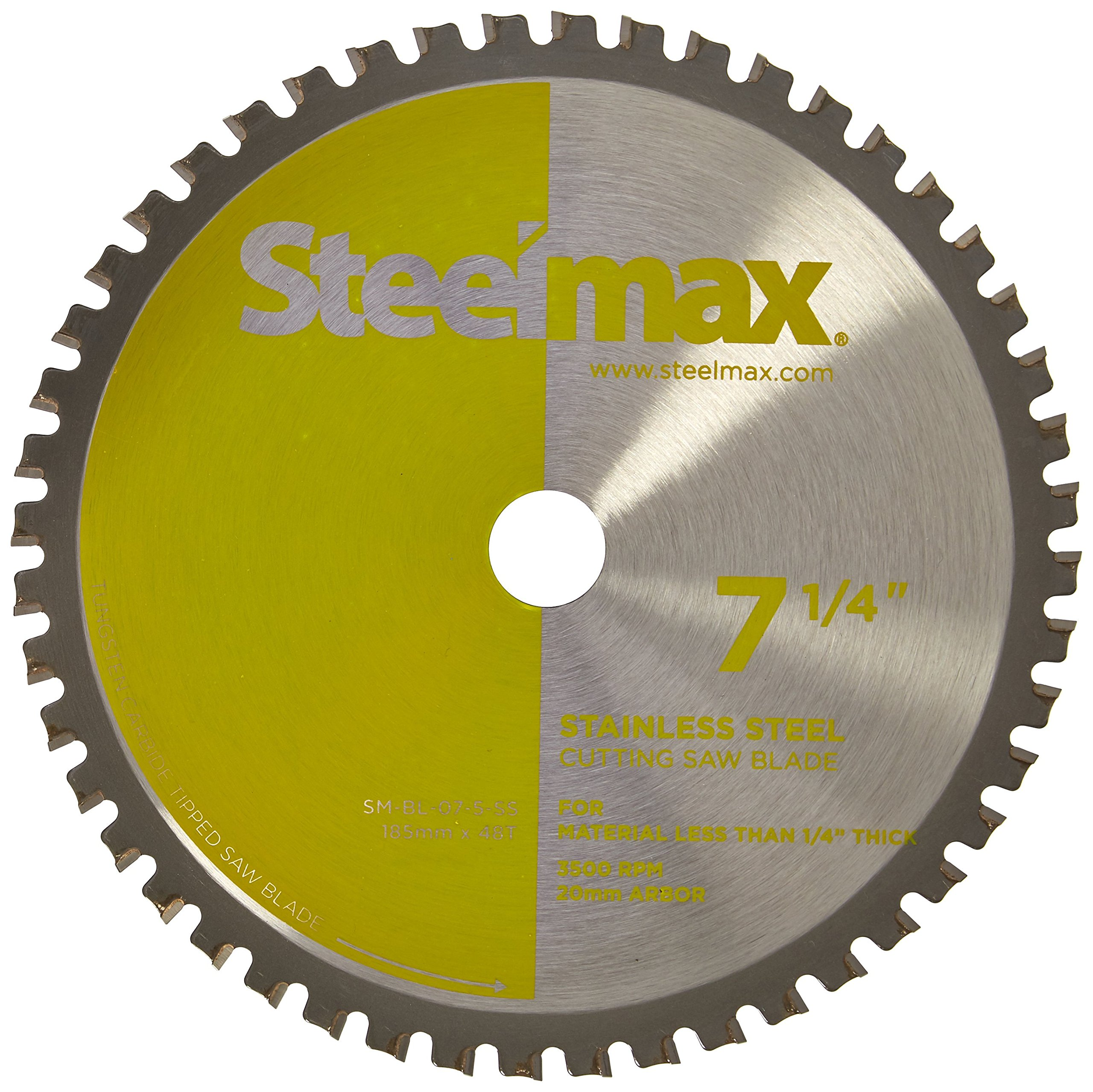 Steelmax 7 1/4'' TCT Blade for Stainless Steel