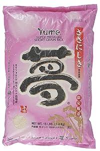 Yume Super Premium Rice, 15-Pounds Bag
