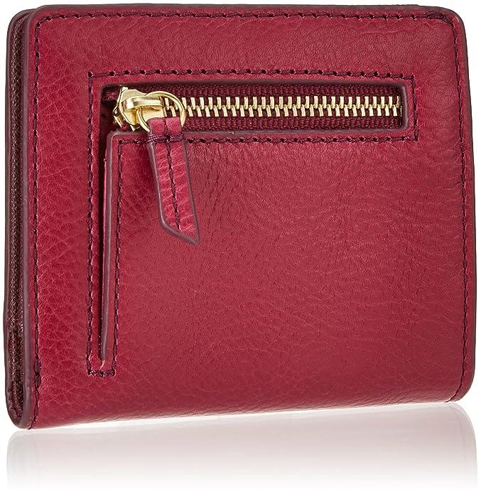 Emma, Womens Wallet, Rot (Raspberry Wine), 1.6x9.5299999999999994x10.16 cm (B x H T) Fossil