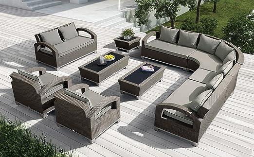 InterougeHome RILASA-Juego de muebles de jardín mesa y sillas de ...