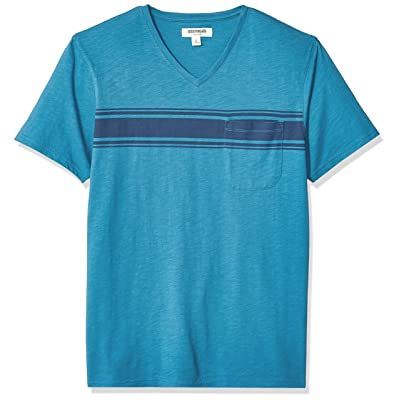 Brand - Goodthreads Men's Lightweight Slub V-Neck Pocket T-Shirt: Clothing