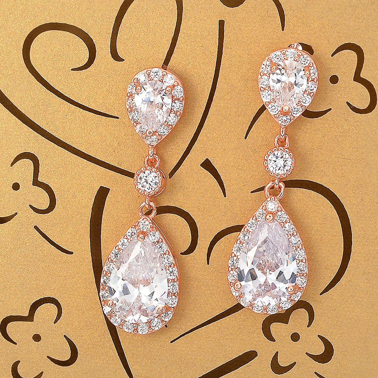 Yangle0520 Sterling Silver Drop Earrings,Sparkly Teardrop Chandelier Earrings Fashion Stylish Elegant Design Exquisite Workmanship Wedding and Party Jewelry