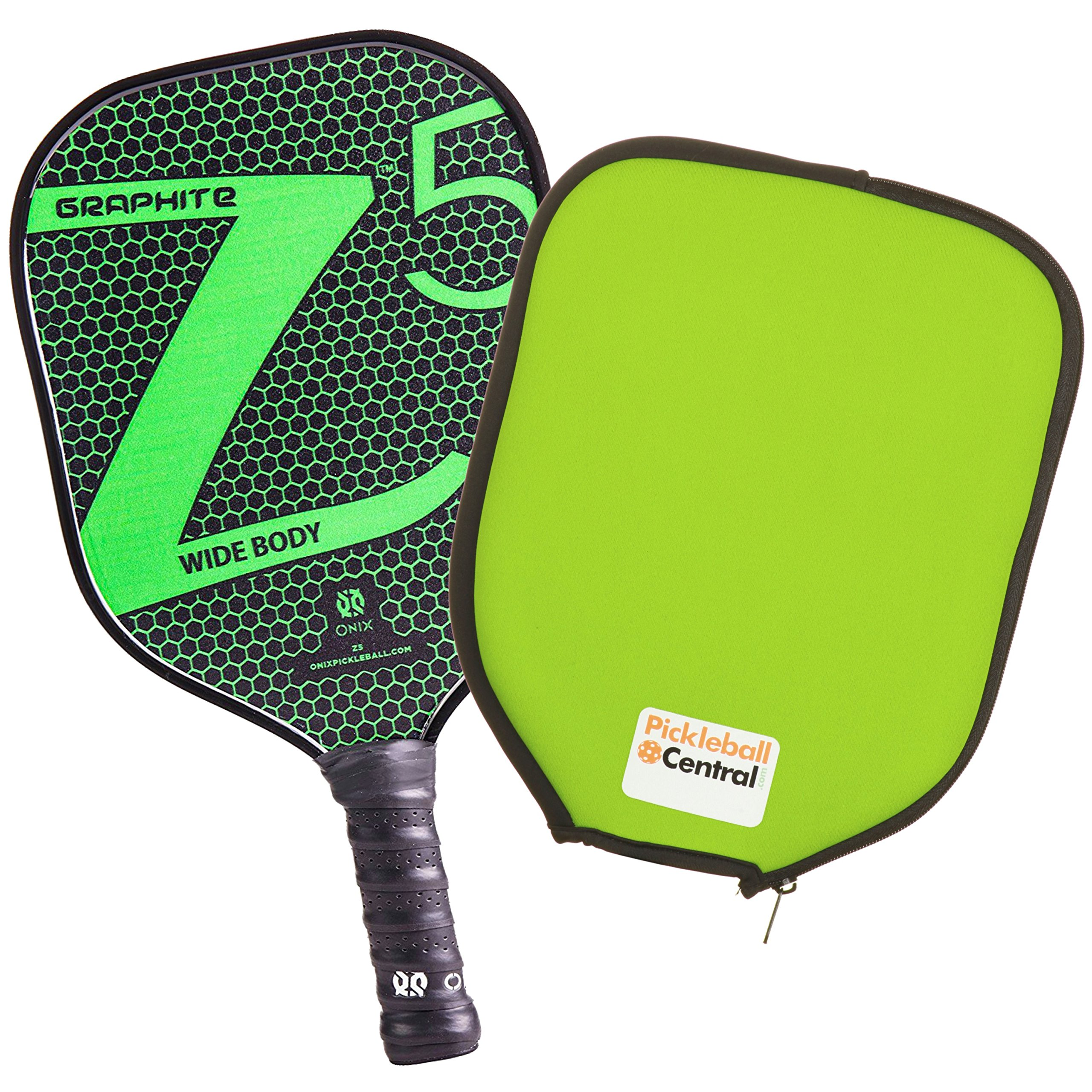 Onix Z5 Graphite Pickleball Paddle and Paddle Cover (Green) by Onix