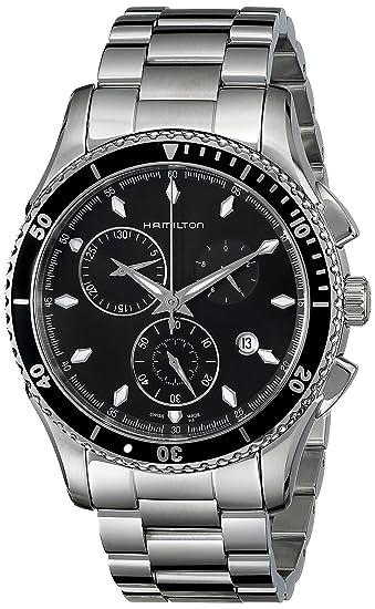 new style 2bca7 795a1 [ハミルトン] 腕時計 ジャズマスターシービュー クロノ クォーツ H37512131 正規輸入品 シルバー