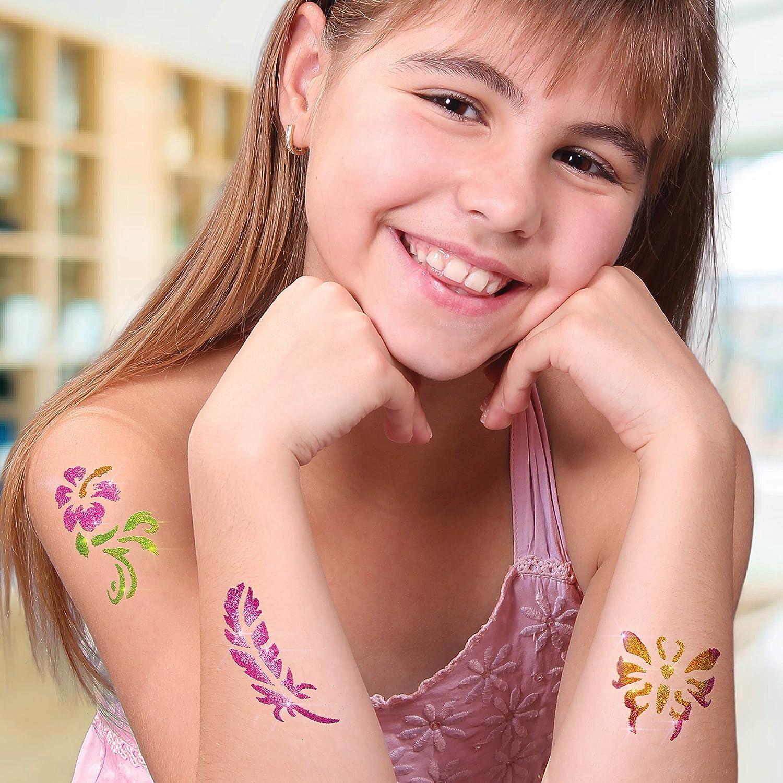 Kit de Tatuajes con Purpurina, Tatuajes temporales Tatuajes con ...