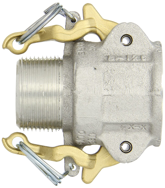 Dixon Valve AB125 Aluminum 356T6 Boss-Lock Type B Cam and Groove Fitting 1-1//4 Socket x 1-1//4 NPT Male 1-1//4 Socket x 1-1//4 NPT Male Dixon Valve /& Coupling