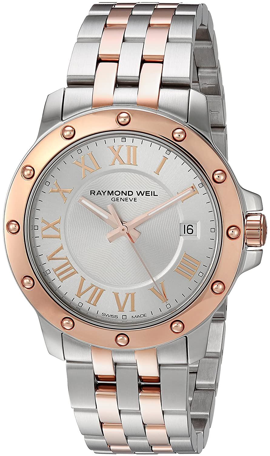 Amazon.com: Raymond Weil Mens Tango Swiss-Quartz Watch with Two-Tone-Stainless-Steel Strap, 11 (Model: 5599-SB5-00658: Watches