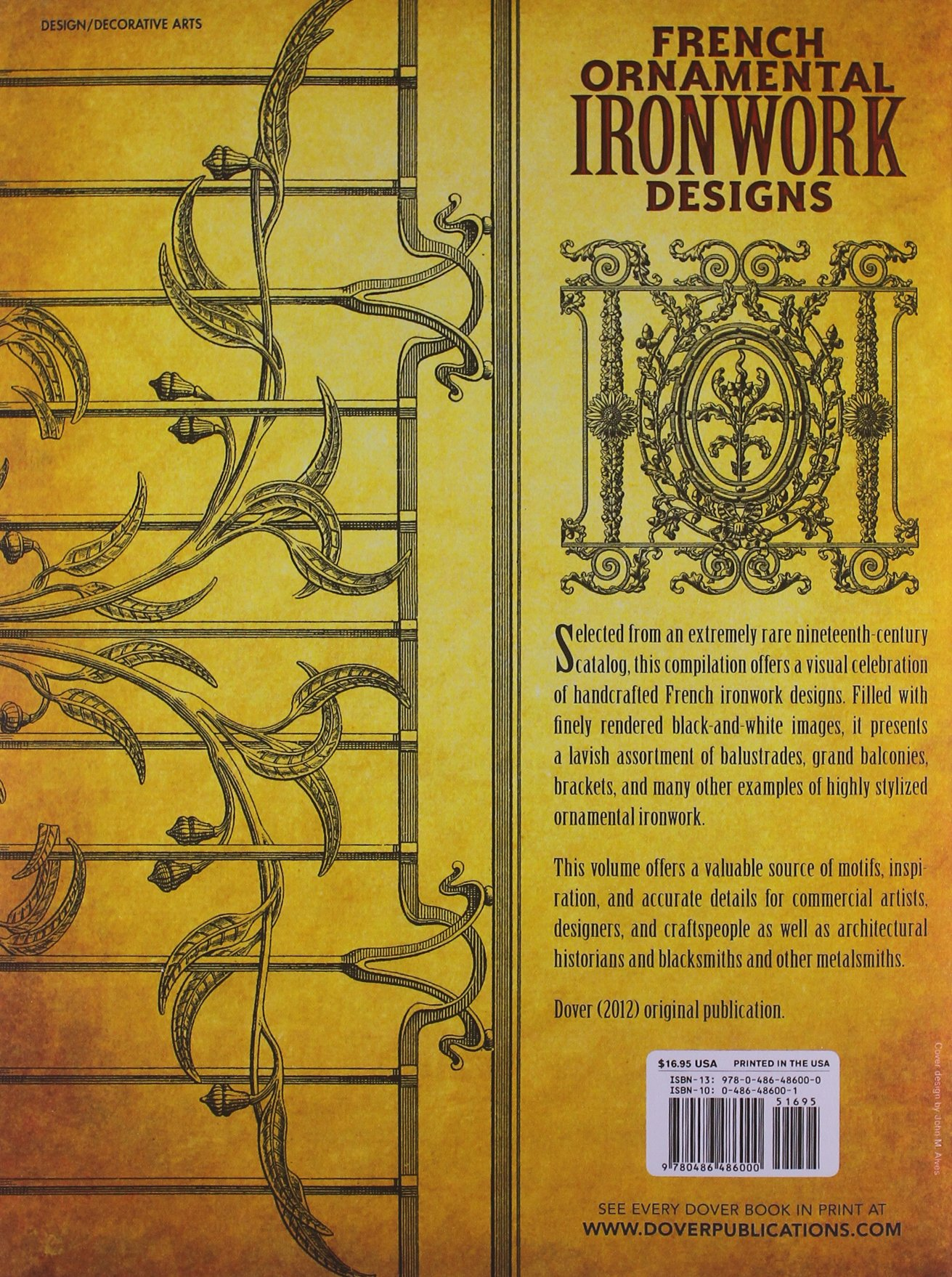 French Ornamental Ironwork Designs (Dover Pictorial Archive): Dover ...