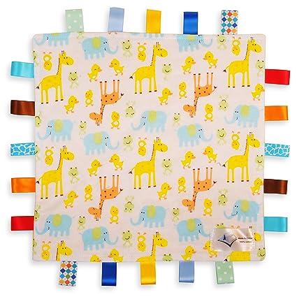 Manta de Etiquetas Para Bebés Blanca - Etiquetas de Animales con ...