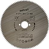 Wolfcraft 6281000 - Lama per sega circolare in acciaio al cromo-vanadio, con 100 denti, 210 x 30 x 2,4 mm, serie Blu