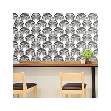 Art Deco Fan Pochoir Meubles Mur Sol Pochoir Pour Peinture Meubles