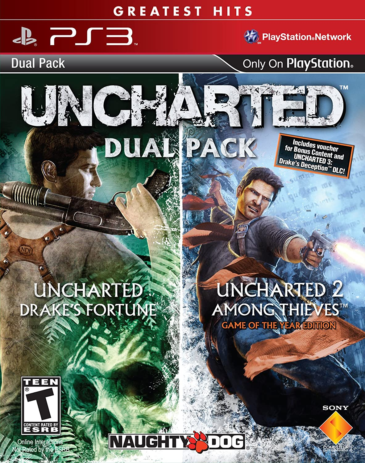 Amazon Com Uncharted Greatest Hits Dual Pack Playstation 3