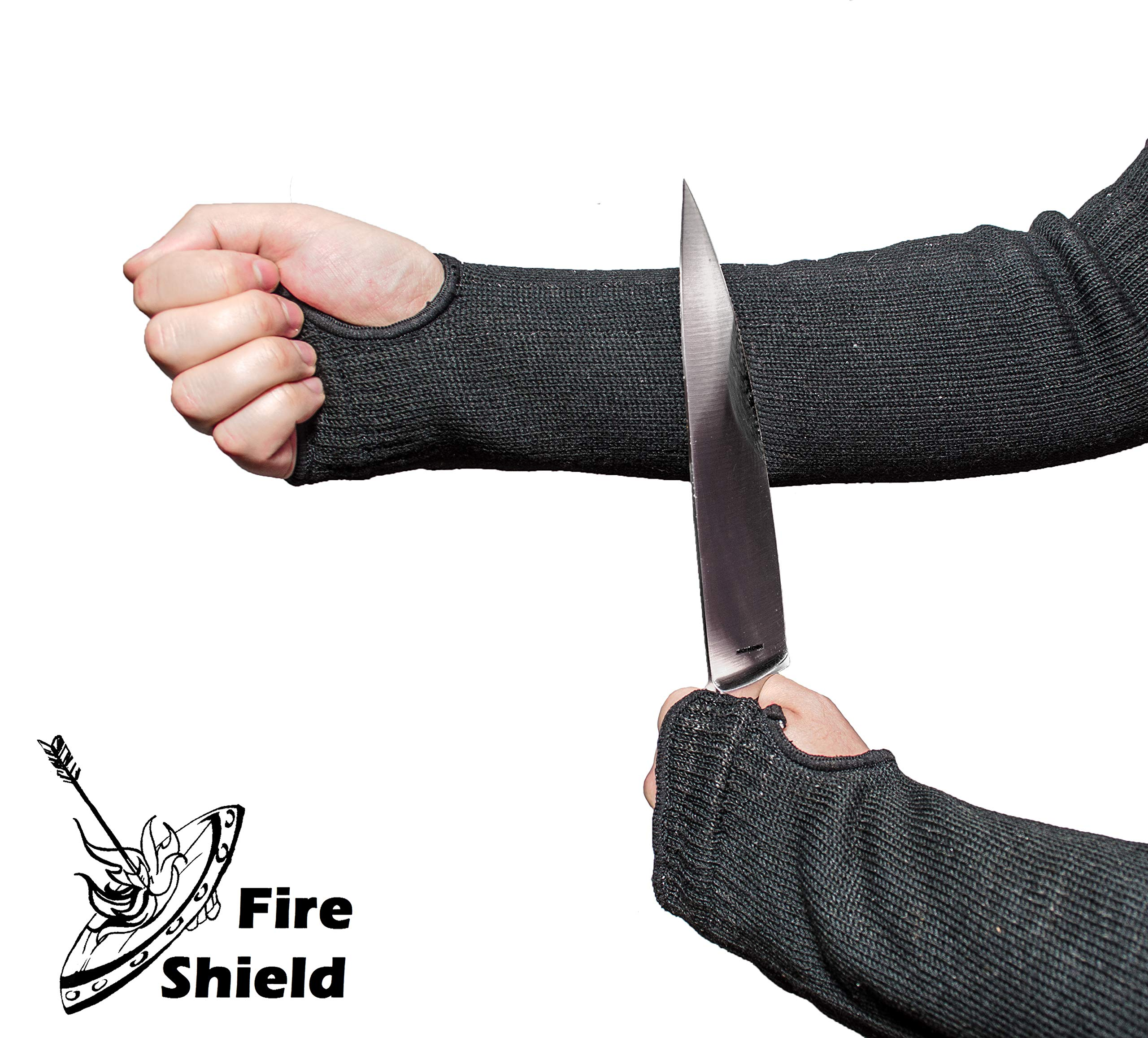 Heat and Cut Resistant Sleeves | 22 in. with Thumb and Finger Holes | Washable, Flexible, Durable | Full Arm Protection for Cooks & Welders | by FIRE SHIELD by Fire Shield (Image #3)