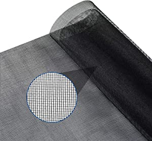 Yoochee Window Screen Replacement - DIY Costume Adjustable Fiberglass Screen Mesh - Durable Screen Roll for Windows Doors and Patio Screen (48