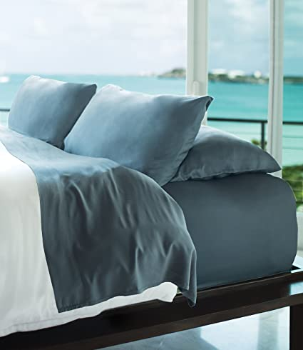 e029502a1d4 Cariloha Resort Bamboo Sheets 4 Piece Bed Sheet Set - Luxurious Sateen  Weave - 100%