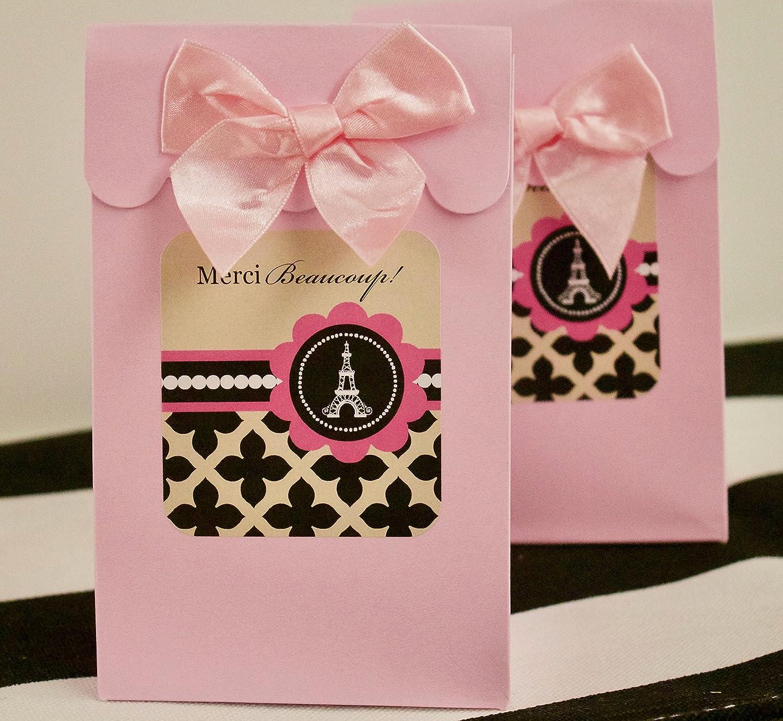 Amazon.com: Paris Birthday Party Supplies Eiffel Tower Theme Gift ...