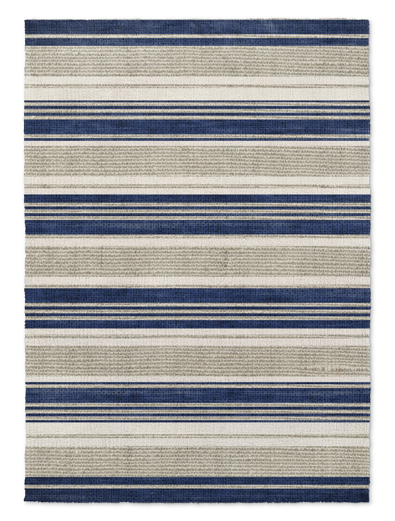 KAVKA Designs Chatham Tan Area Rug, (Blue/Grey) - SALTWATER Collection, Size: 8x10x.5 - (TELAVC8131RUG810)